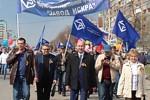 «Искра» по традиции приняла участие в первомайской демонстрации.